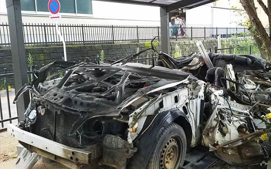 無残な姿の1台のパトカーがずっと双葉警察署に置かれている理由とは...