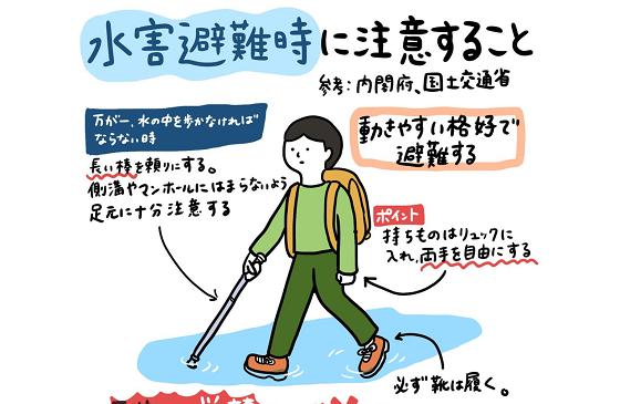 """""""水害避難時に命を守る大切なポイント""""とは..."""
