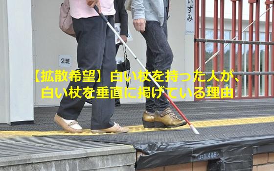 【拡散希望】白い杖を持った人が、杖を垂直に掲げている理由とは...