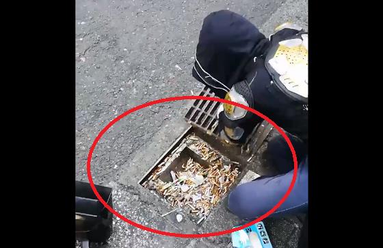 """ある清掃ボランティアが投降した""""排水溝の中""""の想像を絶する状況に言葉を失う..."""
