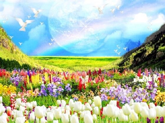 故人を思い浮かべると天国にいるその人の周りに...